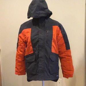 Land's End Grey and Orange Coat